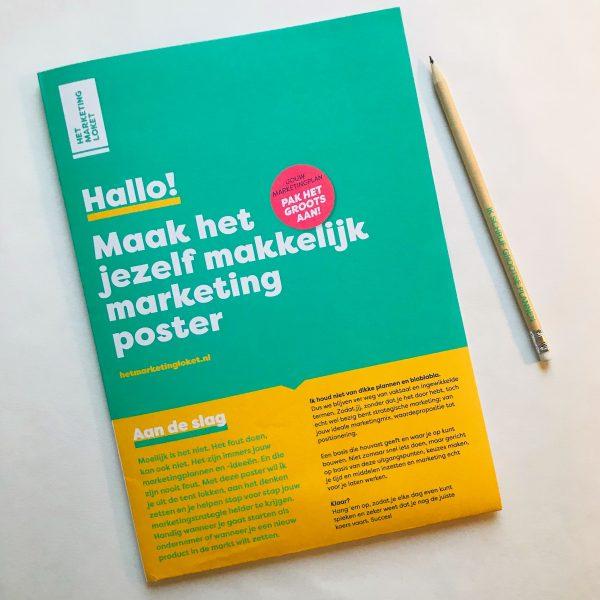 Maak het jezelf makkelijk marketing poster