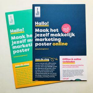 Maak het jezelf makkelijk marketing posters